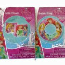 Princess Pool Toys Bundle - 2 Items: Swim Ring and Arm Floats