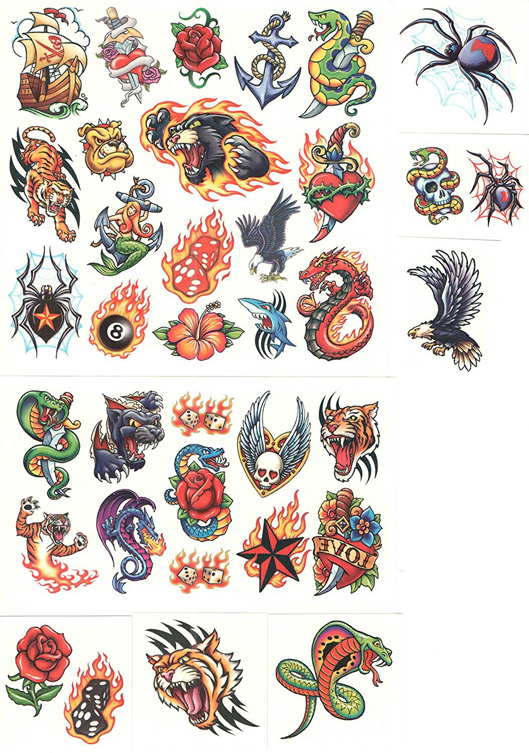 Savvi Classic Tattoos ~ 36 Temporary Tattoos (Flaming Bear)
