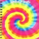 2017 - 2018 Student Planner Calendar (Rainbow) - School College Weekly / Monthly Agenda