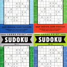 Large Print Sudoku Puzzle - Easy - Medium - Hard - Set of 4 books - Vol.9-12