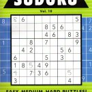 Large Print Sudoku Puzzle - Easy - Medium - Hard - All New Puzzles - (2017) - Vol.10