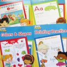 Alphabet, Colors & Shapes, Numbers 1-10, Printing Practice Workbooks Little People
