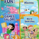 School Zone Workbooks -  Coloring And Activity Books - (Set of 4 books)