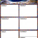 Magnetic Dry Erase Calendar - Weekly Planner / Locker Wallpaper - (Full sheet Magnetic) - v4