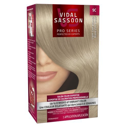 Vidal Sassoon Pro Series Hair Color 9c Light Cool Blonde 1 Kit (Pack of 3)