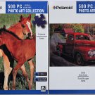 Polaroid 2 Pack Bundle - Vibrant Colored - Photo Art Collection 500PC Jigsaw Puzzles