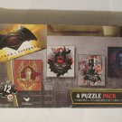 Batman v Superman - 4 Puzzle Pack - 12 Piece Jigsaw Puzzle (Set of 4 Different Puzzles)
