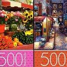 Paris / Provence Market - 500 Piece Jigsaw Puzzle (Set of 2 Puzzle)