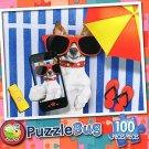 Beachy Pooch - PuzzleBug - 100 Piece Jigsaw Puzzle