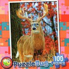 White Tailed Deer Buck - PuzzleBug - 100 Piece Jigsaw Puzzle - v2