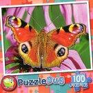 Pretty Peacock Butterfly - PuzzleBug - 100 Piece Jigsaw Puzzle - v2
