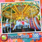 Vintage Carousel France - PuzzleBug - 100 Piece Jigsaw Puzzle