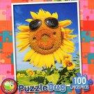 Happy Face Sunflower - PuzzleBug - 100 Piece Jigsaw Puzzle