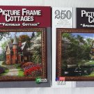 Victorian Cottage & Spring Lake Cottage Puzzles Picture Frame Cottages 2 Puzzles total 250 Pieces