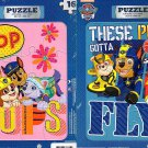 Nickelodeon Paw Patrol - 16 Pieces Jigsaw Puzzle - (Set of 2 Puzzles) v1