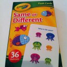 "Crayola ""Same or Different"" Flash Cards (36 cards) Ages 3+ years"