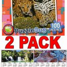 Mommy and Baby Leopard - 100 Piece Jigsaw Puzzle Puzzlebug + Free Bonus 2017 Magnetic Calendar