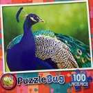 Puzzlebug 100 Piece Puzzle - Beautiful Blue Peacock by LPF