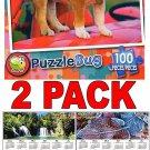 Puppy Wagon - 100 Piece Jigsaw Puzzle Puzzlebug + Free Bonus 2017 Magnetic Calendar