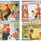 Set of 4 Different Norman Rockwell Jigsaw Puzzles - 500 Pieces in Each by Norman Rockwell