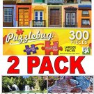 Colorful Windows - 300 Piece Jigsaw Puzzle Puzzlebug + Bonus 2017 Magnetic Calendar