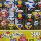 PuzzleBug 300 Piece Puzzle ~ Colorful Ceramic Pots - New Larger Pieces!