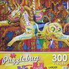 PuzzleBug 300 Piece Puzzle ~ Golden Carousel Horse