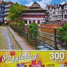 PuzzleBug 300 Piece Puzzle ~ Quaint Timbered Houses Strasbourg, France - New Larger Pieces
