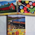 Puzzlebug Vibrant Colored 300PC Jigsaw Puzzle 3Pack