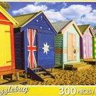 Brighton Beach Huts Australia - 300 Piece Jigsaw Puzzle by LPF