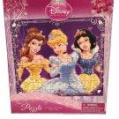 "Disney Princess(3) Puzzle - 100 Pieces - 10"" X 9 "" - Belle, Cinderella, Snow White"