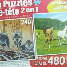 LPF 480 Piece 2-in-1 Puzzle ~ the Wolf Lair & Running Free