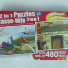 2 in 1 Puzzles - (Pheasant Country & Rosseau General Store)