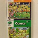 """Comics"" 100 Piece Jigsaw Puzzles Including: Anyone for Tennis & Golf Safari by Papercity Puzzles"