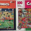 Bundle Lot of 2 Comics 100 Piece Jigsaw Puzzles: Anyone for Tennis ~ Las Vegas