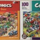 Bundle Lot of 2 Comics 100 Piece Jigsaw Puzzles by Papercity Puzzles: Oasis ~ Jungle Air Tours