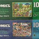 Bundle Lot of 2 Comics 100 Piece Jigsaw Puzzles by Papercity Puzzles: Golf Safari ~ Port of Call