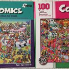 Bundle Lot of 2 Comics 100 Piece Jigsaw Puzzles by Papercity Puzzles: Jungle Air Tours ~ Las Vegas