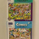 """Comics"" 100 Piece Jigsaw Puzzles Including: Port of Call & Jungle Air Tours by Papercity Puzzles"