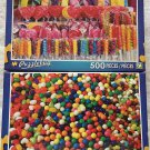 2 Puzzlebug 500 Piece Puzzles by LPF: Colorful Lollipops and Candy Sticks ~ Candy Fun