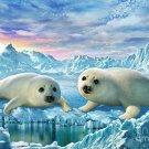 New Adorable Adrian Chesterman Precious Seal Pups 100 Peice Puzzle