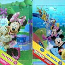 Minnie Mouse + Mickey Mouse Foil Puzzle 24 Pieces (Set of 2 Puzzles)