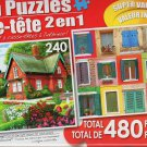 Summer Cottage and Colorful Rustic Windows - Total 480 Piece
