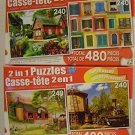 Lot of TWO 2 in 1 Puzzles by LPF.4 Total