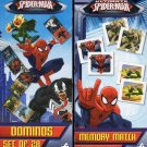 Marvel Spider-Man - Dominois Domino & Memory Match Game Puzzle 2 Piece SET