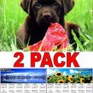 Puppies - 16 Month 2018 Wall Calendar Scheduler Organizer + Bonus 2018 Magnetic Calendar