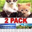 Kittens - 12 Month 2018 Wall Calendar Scheduler Organizer + Bonus 2018 Magnetic Calendar