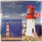 2018 Illustrated Wall Calendars with Matching Mini Calendars, (Lighthouses)