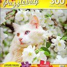 Beautiful Cat Amongst Flowers - 300 Large Pieces Jigsaw Puzzle - Puzzlebug - p 003