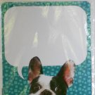 "'Cute Puppy' Dry Erase Locker Magnet - 11"" x 8.5"" (Pug with Blue Background)"